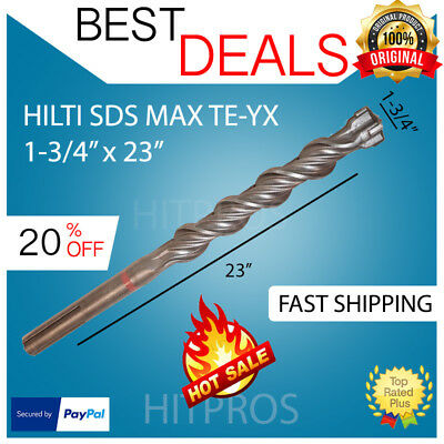 Hilti Te-yx Sds Max Hammer Drill Bits 1-34 - 23 Brand New Fast Shipping
