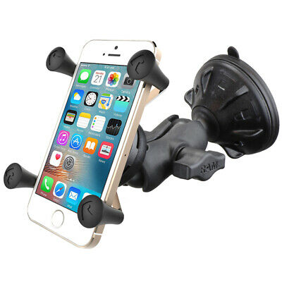 RAM Short Arm Suction Cup Car Mount w/ X-Grip Cradle fits Cell Phone /
