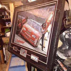 Huge NASCAR Shadow Box Artwork of Dale Earnhardt JR
