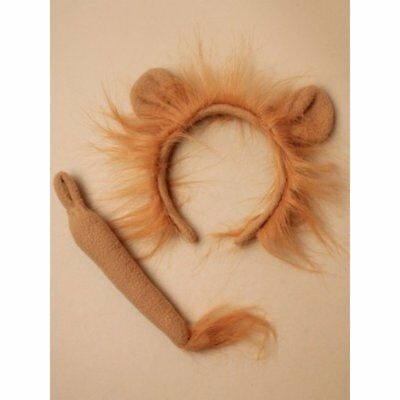LION Ears and Tail Set Headband Fancy Dress Costume Accessory ONE SIZE FITS ALL - Lion Tail Costume Accessory