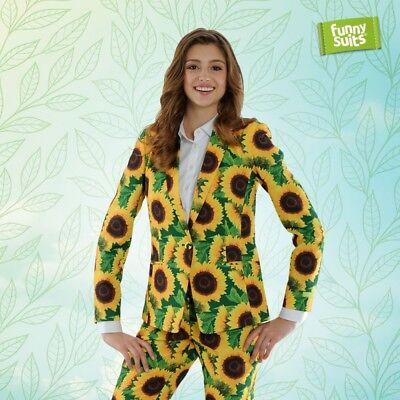 Sonnenblumen Damen Anzug Blumen Sunflower grün 2-teiliges Kostüm - Grünen Anzug Kostüme