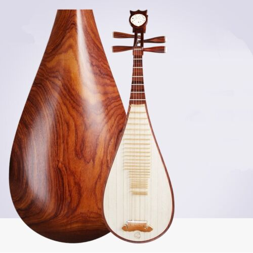 Dalbergia Four string Pipa Musical Instruments lute perform Collection gift #020