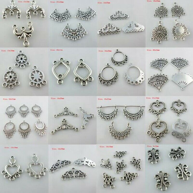 Mixed Styles Choose Earring/Necklace Connectors Bail Charms Pendant DIY Findings