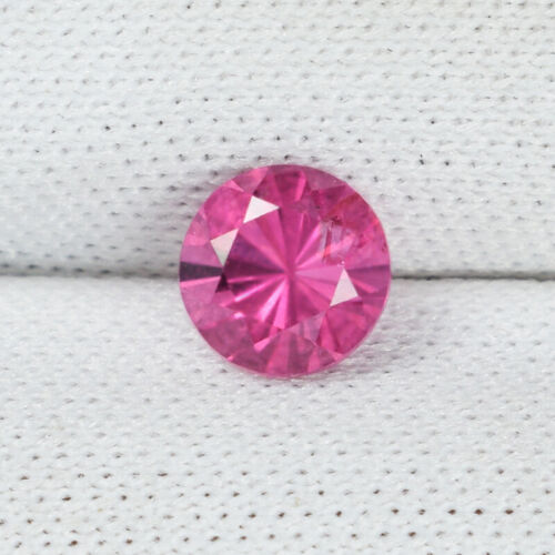 0.63 ct TOP LUSTROUS - NICE PINK -  NATURAL SPINEL - AAA Round Gemstone 4518 !!