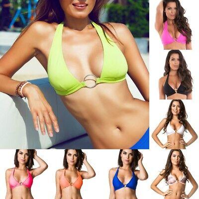 Coqueta Women Swimwear Bikini separates halter top banded Swimsuit MADE IN (Women's Swimwear Made In Usa)