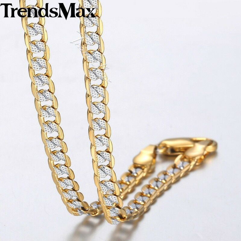 "4mm 18-30"" Diamond-Cut Curb Cuban Link 14K Gold Filled Chain"