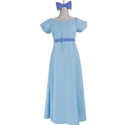 Peter Pan Coplay Kostüm Wendy Rachael Damen Fancy Dress Kleid Fasching Costume