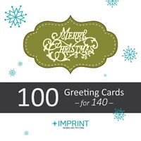 100 HOLIDAY GREETING CARDS w/ Env. for 140 – Local Studio