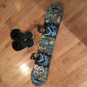 Burton 110 Board And Vans Boots Size 2