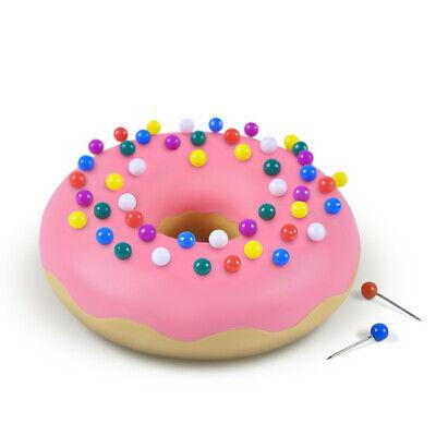 Genuine Fred Desk Donut Eraser Push Pin Holder- With 50 Push Pins