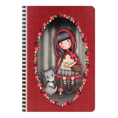le Red Riding Hood gestickt Notizbuch Kinder Mädchen Schule (Mädchen Little Red Riding Hood)