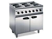 Commerical Lincat 6 hob lpg cooker