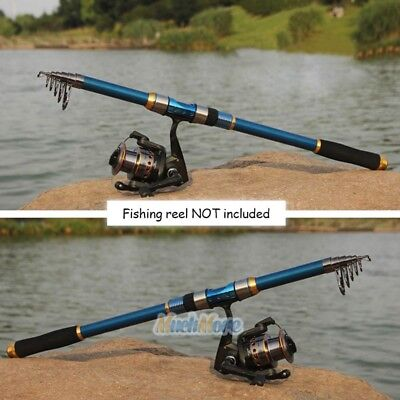 2.1m Carbon Telescope Fishing Rod Travel Sea/River Spinning Pole-Smart Anglers