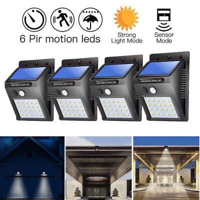 4x Solarleuchte Gartenlicht Solar Lampe Wandlampe Bewegungsmelder Wandleuchte