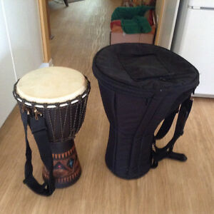 Djembe et sac de transport