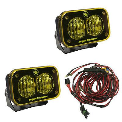 Baja Designs UTV S2 Pro Pair Wide Cornering LED Lights Amber