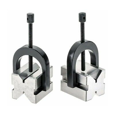 Precision V-block Set 40 X 32 X 32 With 2 Blocks 2 Clamps