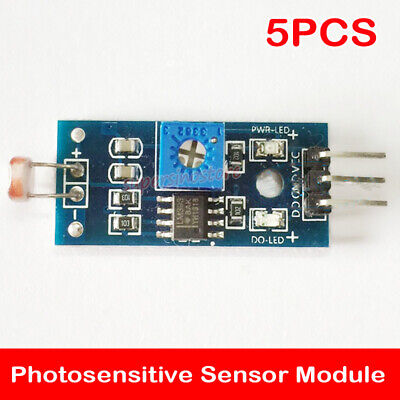 5pcs Mini 3 Pins Photosensitive Sensor Module Digital Light Detection Resistor