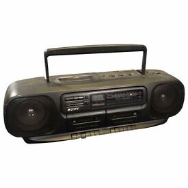 Vintage Sony CFD-100L Double Cassette Tape CD Player and Radio