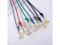 Bracelet with Anchor - 8 colours available