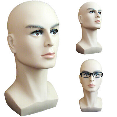 Male Wigs Hair Hat Cap Mannequin Head Glasses Display Head Moldel Free Stand New
