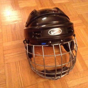 Hockey Nike Helmet With Cage, size small