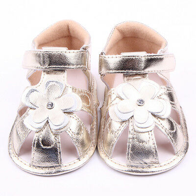 0-6M Infant Baby Girl Cute Soft Sole Walking Sandal Toddler Crib Prewalker Shoes