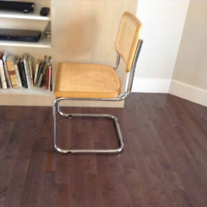 5 BREUER wicker chairs  and 3 replacement seats for sale