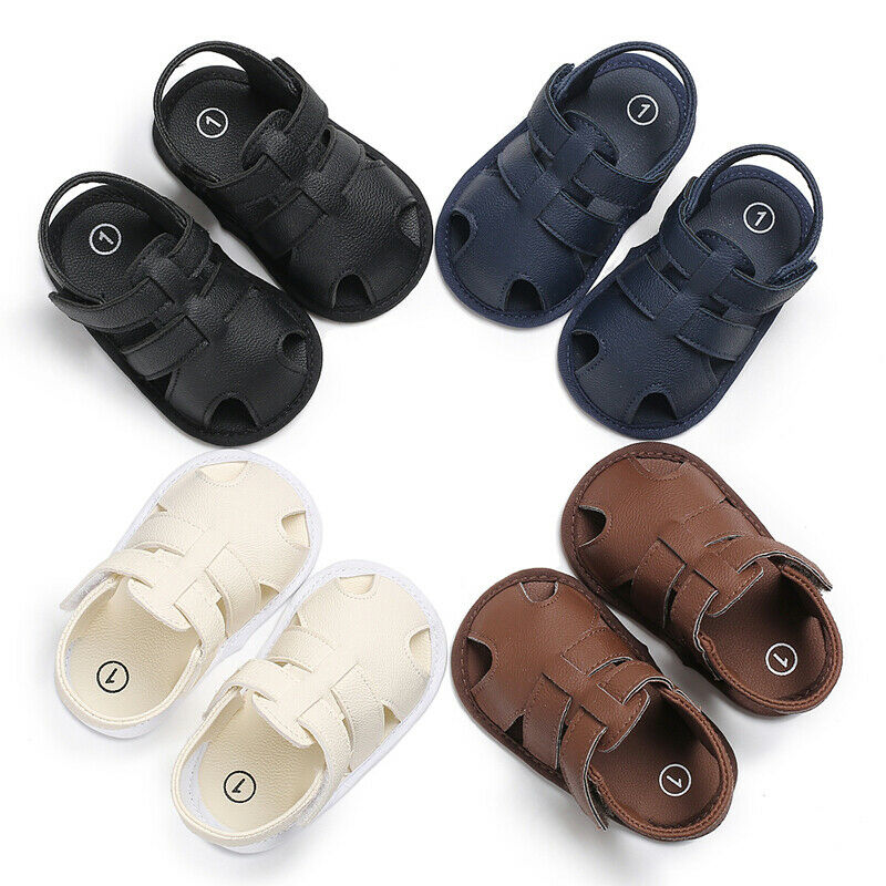 US For 0-18M Baby Infant Boy Girl Soft Sole Crib Toddler Summer Sandals Shoes
