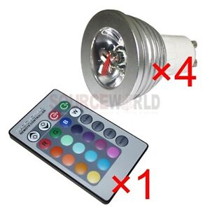 4x-GU10-3W-16-Color-Changing-RGB-LED-Light-Bulb-Lamp-85-265V-IR-Remote-Control