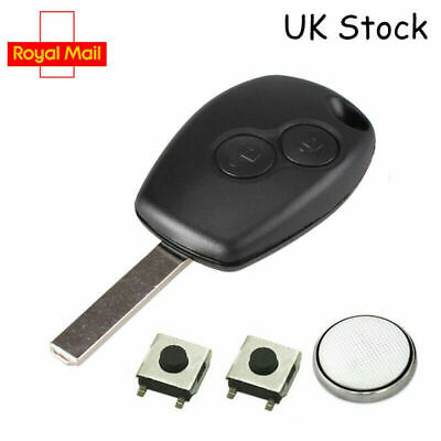 2 Button Renault Twingo Modus Kangoo Remote Key Fob Case Service Repair Kit A21