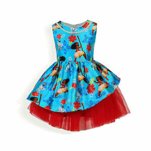 Fabulous Girls Moana Dresses with pearl necklace!