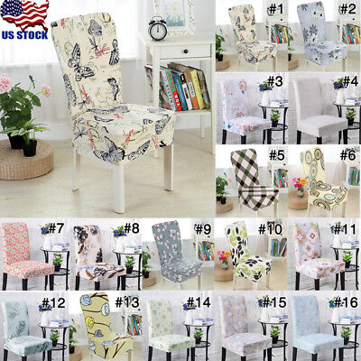 USA 1X Stretch Short Removable Dining Room Office Stool Chair Cover Slipcover ()