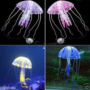 Artificial glowing effect jellyfish for aquarium ornament for Aquarium jellyfish decoration