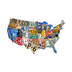 USA License Plate Map EBay - Large framed us map
