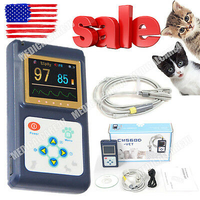 Handheld Veterinary Vet Color Pulse Oximeter Spo2 Monitor Pulse Ratesoftwareus