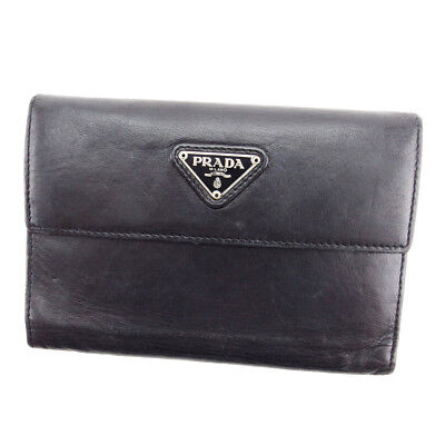 Auth PRADA in purse triangle logo Men