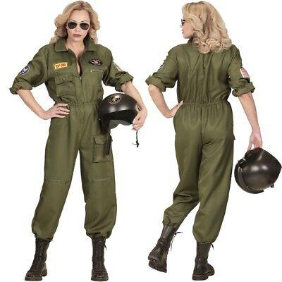 Jet Pilotin Damen Kostüm deluxe Top Gun Kampfpilotin Kampfjet US ARMY Gr. S-XL