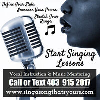 Sign Up Now - Singing Lessons!