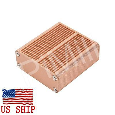 Aluminum Project Box Enclosure Case Electronic Diy 45x45x18.5mm Gold Us Stock