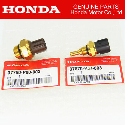 Set of 2 Cooling Fan Switch & Coolant Sensor Fit For Honda Odyssey Accord Pilot ()