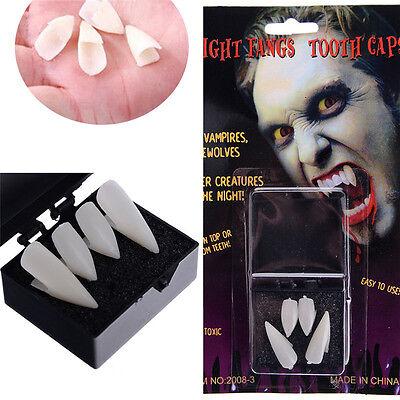 4PCS Halloween Party Cosplay Vampire Fangs Werewolf Teeth Dress Costumes Tooth - Teeth Fangs