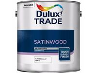 Dulux SatinWood 5L white, NEW. 2 for 50