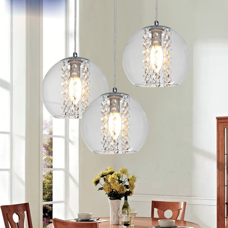 Modern 1-3light Glass Ball Crystal Ceiling Light Kitchen