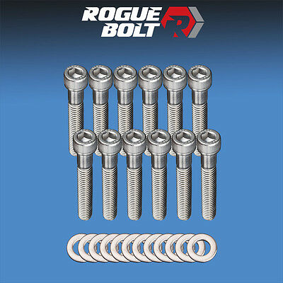Ford Intake Bolts - SBF INTAKE MANIFOLD BOLTS STAINLESS STEEL KIT SMALL BLOCK FORD 289 302 5.0L 351W