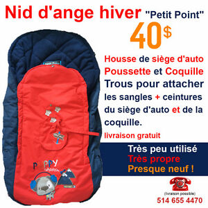 "Nid d'ange hiver ""Petit Point"""