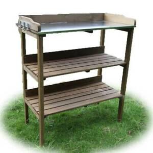 Indoor/Outdoor 3 Tier Wooden Plant Stand Shelf Timber Flower-H007