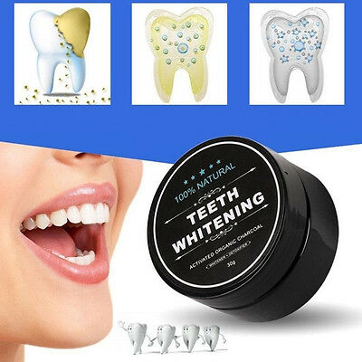 Natural Whitening Toothpaste Activated Charcoal Tooth Powder Oral Teeth Care 30g