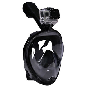 Swimming Scuba Anti-fog Dry Snorkel Full Face Mask for GoPro Cam