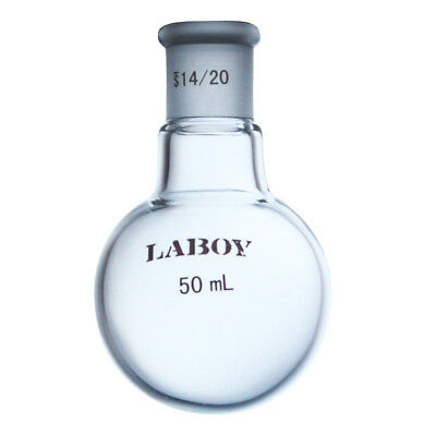 Laboy Glass Single Neck Round-bottom Boiling Flask 50ml With 1420 Glass Joint